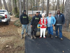 Mom loves her new driveway and they guys who made it happen!